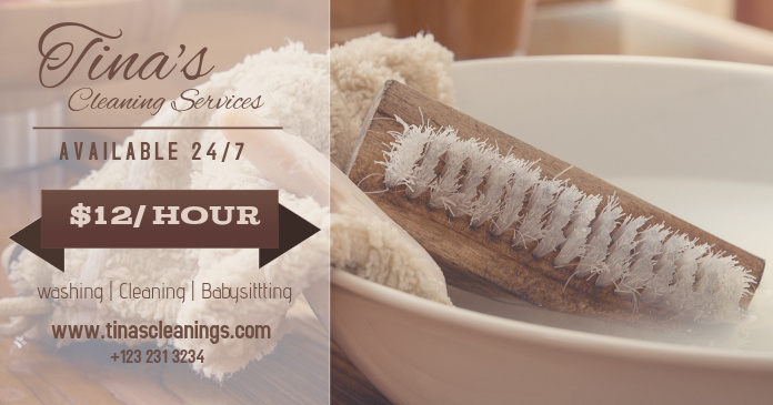 Cleaning Service Facebook Image Template