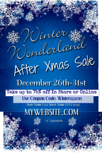 Winter Wonderland Xmas Sales Event Template