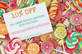 Candy Buffet Sale Flyer - Customizable