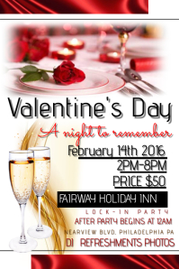 Customizable Design Templates for Valentines Dinner Flyer ...