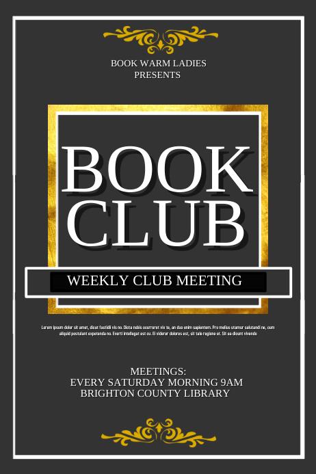 Book Club Póster template