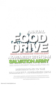 food drive poster