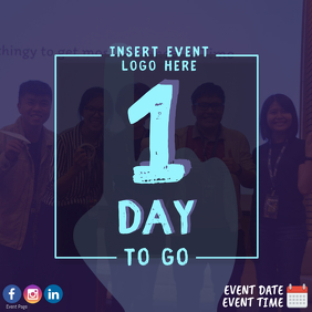 1 Day To Go Countdown Event Template