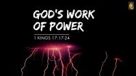 1 Kings sermon series Affichage numérique (16:9) template