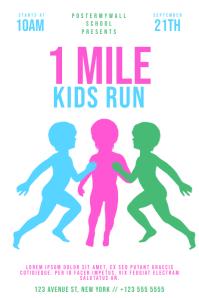 1 Mile Kids Run Flyer Template