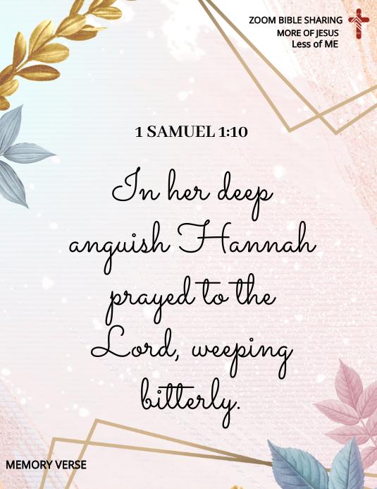 1 SAMUEL 1:10 Flyer (US Letter) template