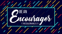 1 Thessalonians Sermon Series Title Digitalt display (16:9) template