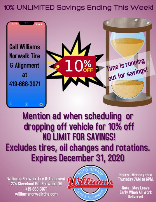 10% off unlimited savings 传单(美国信函) template