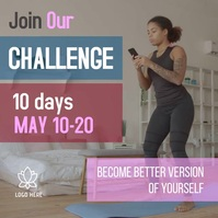10-Day Wellness Challenge Instagram Video Tem Square (1:1) template