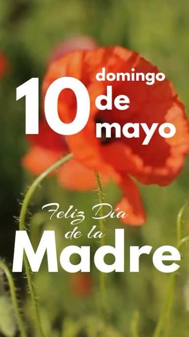 10 de mayo dia de la madre video de flores Digital na Display (9:16) template