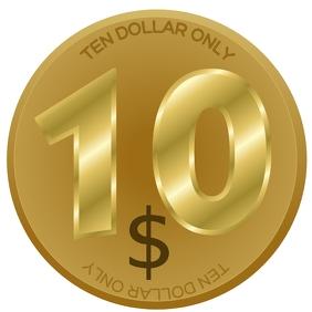 10 DOLLAR COIN TEMPLATE Logo