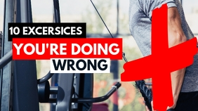 10 exercises you are doing wrong youtube thum template