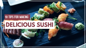 10 tips for making delicious sushi design tem YouTube 缩略图 template