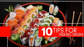 10 tips for making sushi youtube thumbnail template