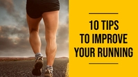 10 tips to improve your running experience yo YouTube Thumbnail template
