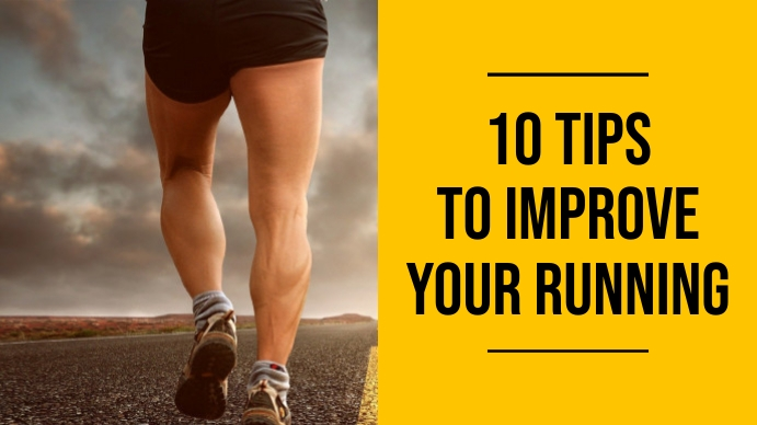 10 tips to improve your running experience yo YouTube-thumbnail template