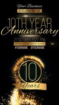 10 year anniversary design template