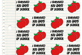 100 Days of School Backdrop