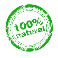 100-natural Logo template