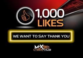 1000 likes Kartu Pos template