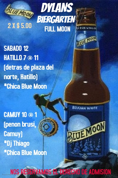 BLUE MOON HAPPY HOUR