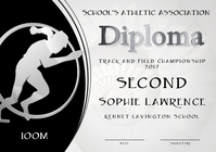 100m diploma second