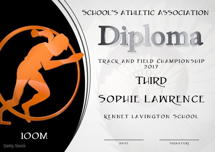 100m diploma third