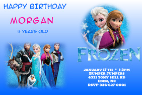 Customizable Design Templates For Frozen Birthday Invitation - Birthday invitation frozen theme
