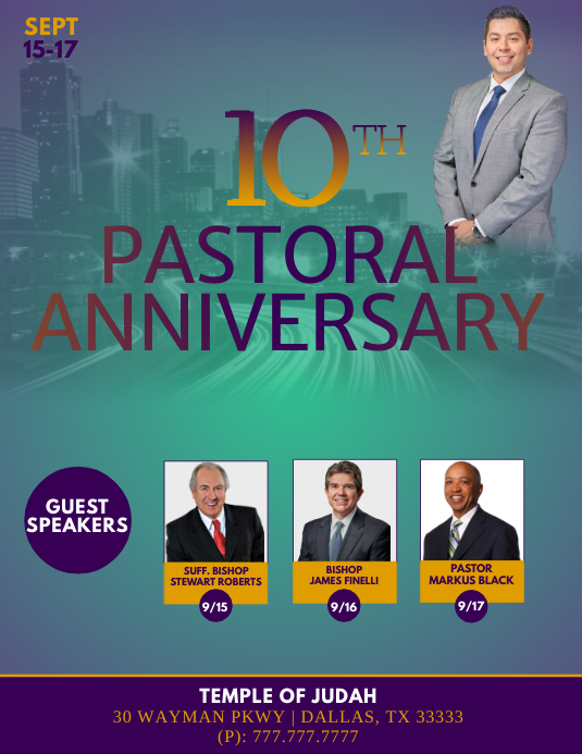 10th Pastoral Anniversary