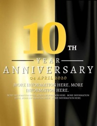 10th Year Anniversary Flyer Template Løbeseddel (US Letter)