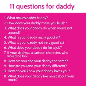 11 Questions on Father's Day Template Square (1:1)