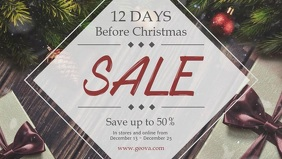 12 Days before Christmas Sale Banner Video