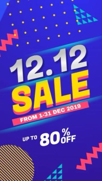 12.12 Sale Digital Display Promotion video