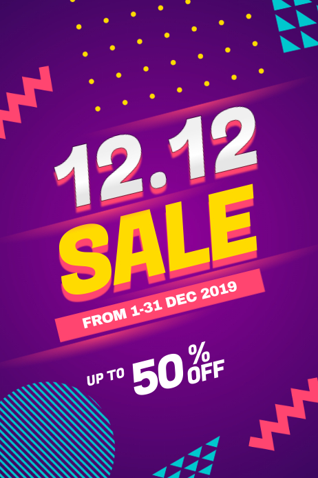 12.12 Sale Discount Poster Flyer