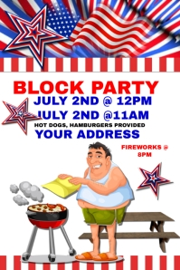 July 4th Block Party Template
