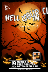 Halloween leaflet template - PosterMyWall