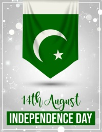 14 august, pakistan independence day ใบปลิว (US Letter) template