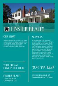 Real Estate Plakat template