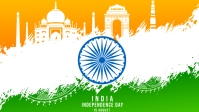 15 August Independence Day Poster Facebook-omslagvideo (16: 9) template