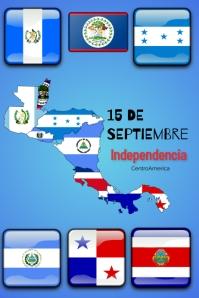 15 de sept/independencia/centroamerica Poster template