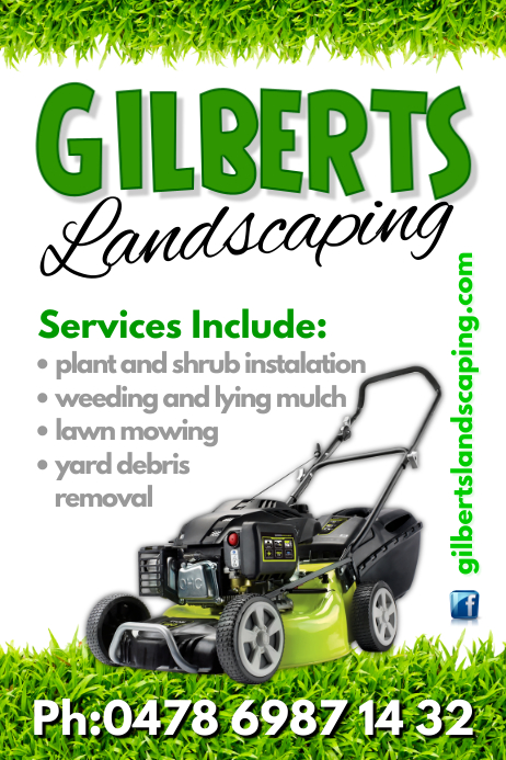Landscaping poster template postermywall for Landscaping flyers templates