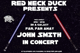 Concert Flyer Star Wars