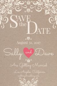 Wedding Invitation Postcard Template Poster