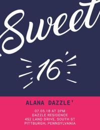 16th Birthday Flyer Template