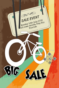 Sale event poster - PosterMyWall - Vintage design template