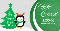 Christmas gift card template