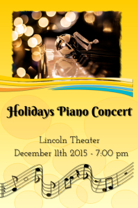 Holidays piano concert