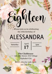 18th Birthday Invitation