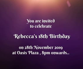 18th Birthday Invitation Medium Reghoek template