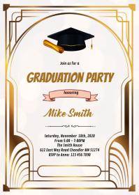 1920s graduation party invitation